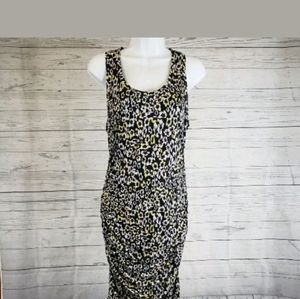 Rachel Roy Dress w/Ruching black yellow Size Large
